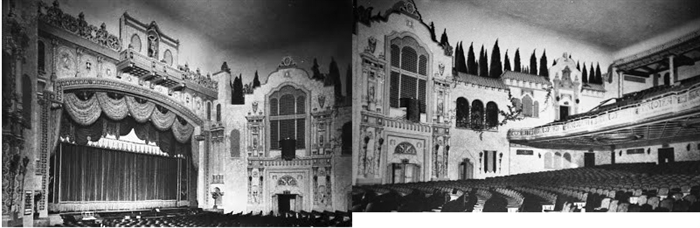 The grand Venetian Theatre in Racine was torn down because people became afraid to go downtown.