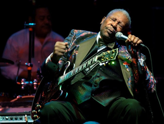 In this Feb. 16, 2007 file photo, B.B. King performs at the Wicomico Youth and Civic Center, in Salisbury, Md.