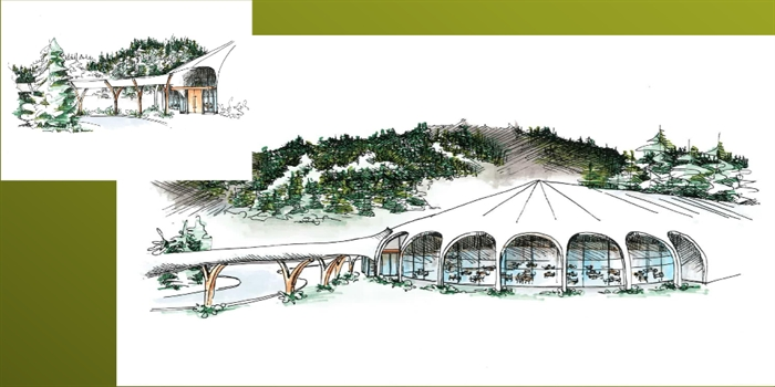 Artist's renderings of the proposed Sun Peaks Centre.