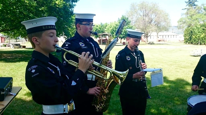 Local sea cadets tune-up in preparation for a visit from Defence Minister Jason Kenny at the Vernon Army Camp, Saturday, May 23, 2015.