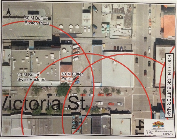 The second map the city gave to Wheeler-Johnson regarding his location.