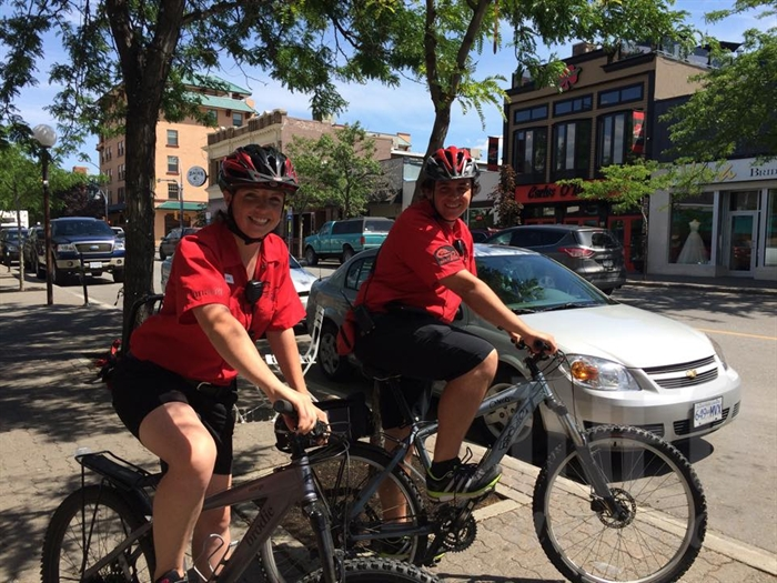 Jackie Redenmacher, left, and Timothy Crowe of the CAP team will be helping to patrol the streets in downtown Kamloops.