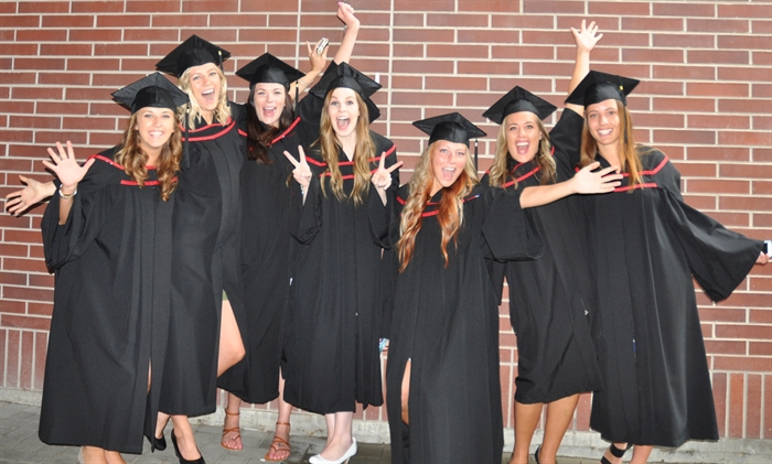 Nursing students celebrate at UBC's Convocation, Friday, June 5, 2015.