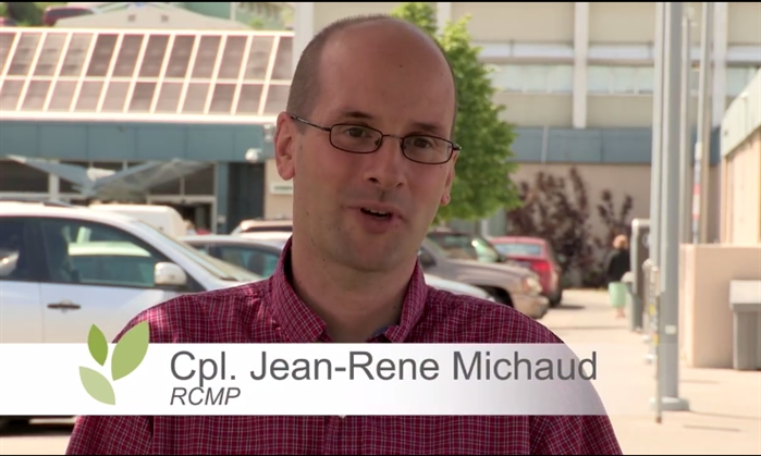 Cpl. Jean-Rene Michaud shares his story in support of the Royal Inland Foundation.