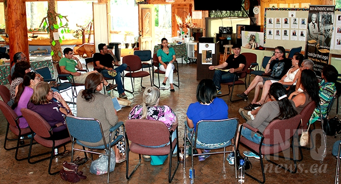 First Nations artists and craftsmen gathered to discuss a marketing and branding strategy for Interior Indigenous Arts Marketing on June 5 at the Penticton Indian Band's En'owkin Centre.