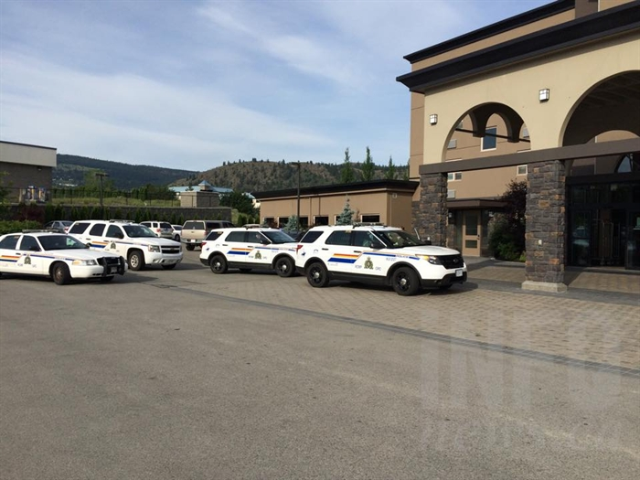 RCMP are investigating following a robbery at the Best Western this morning, June 11, 2015.