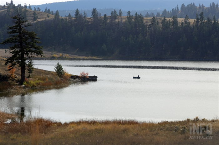 Jacko Lake is a popular fishing area located within the Ajax Mine property.