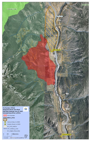 The Cisco Road fire near Lytton continues to threaten structures in the area.