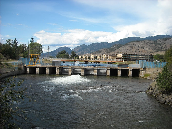 The body of Andrew Scott Gangl was discovered April 25, 2014, three kilometres downstream from the Skaha dam, which is pictured in this photo.
