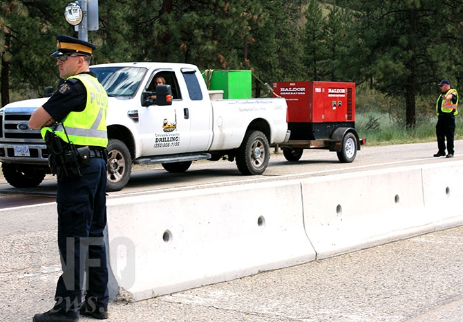 Police were out in force at the scales on Highway 97 south of Penticton targeting motorcycles, commercial vehicles and anything towing a trailer, Friday, June 19, 2015.