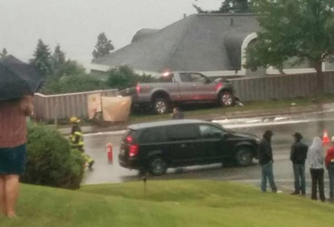 A truck crash on Summit Drive has caused a power outage to more than 1,000 customers in the area this evening, June 29, 2015.