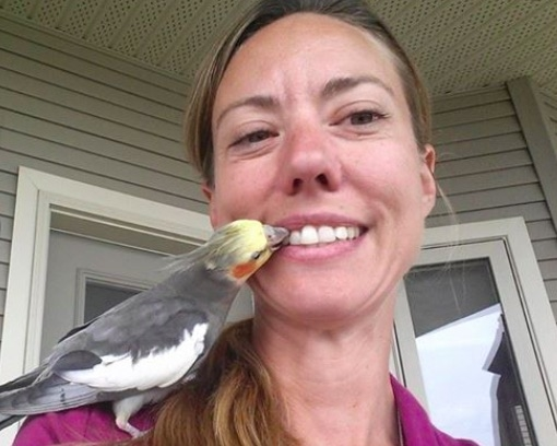 Allison Griffiths spent her afternoon off trying to reunite a missing bird with its family, and was happy to do it.