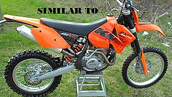 An orange 2006 KTM 450 EXC with B.C. plate number U94316 and VIN VBKEXM40X6M30956 was stolen in Lake Country this week.