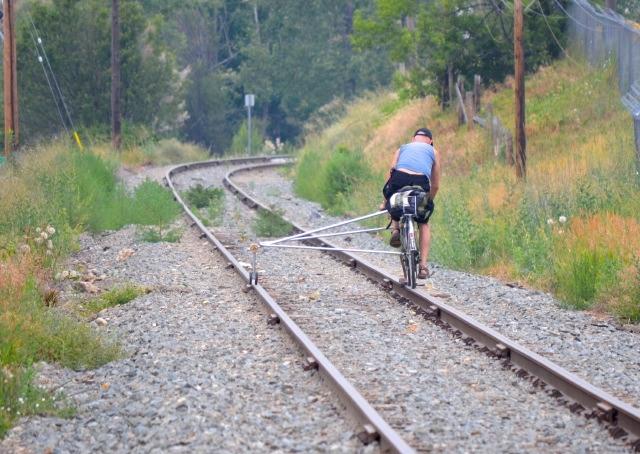 Unusual bike cruises down Vernon train tracks - InfoNews