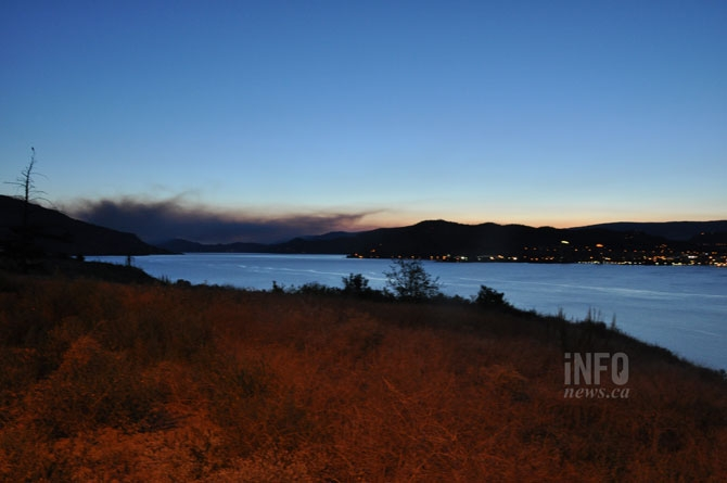 Early morning smoke imposes on the landscape from Westbank First Nation.