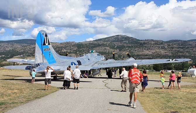 Penticton residents enthusiasm for vintage war planes is the reason Commemorative Air Wing returned to the airport this year with a restored B-17 WW II bomber.