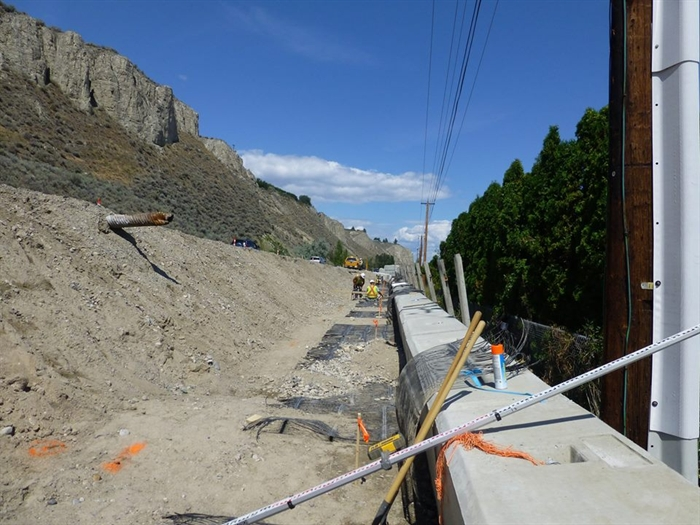 Construction work on Phase one of the Trail of the Okanagans Summerland to Trout Creek section.