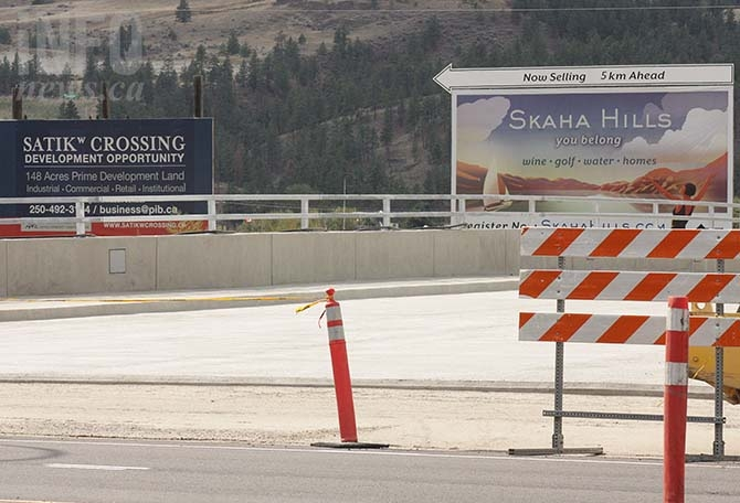 The Satikw Bridge is expected to open up more than one hundred acres of Penticton Indian Band locatee lands for development.