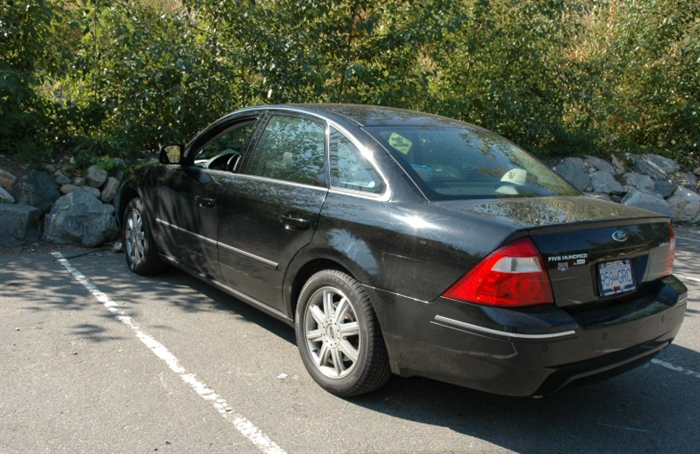 Adam Fette's black 2006 Ford 500 is believed to have been taken from his West Kelowna residence the day of his murder. It was found at the lower parking lot of Bertram Creek Park off Lakeshore Road in Kelowna.