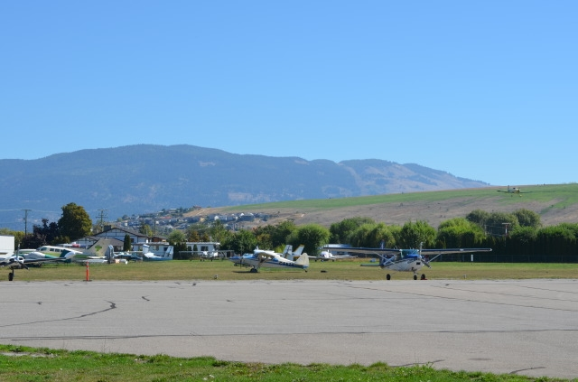 The Vernon Airport is located on Tronson Road, near Okanagan Lake.