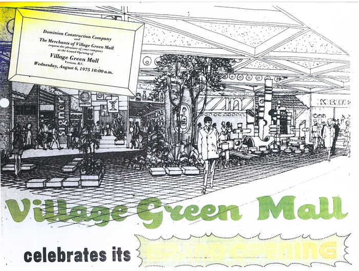 The Village Green Mall opened Aug. 6, 1975.
