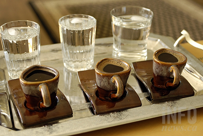 This Turkish coffee set is one of the few personal items Mohammed Al-Shahoud was able to bring with him to Canada.