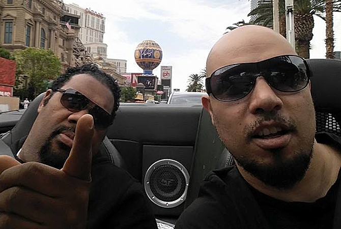 KnowleDJ and Fatman Scoop in Las Vegas.
