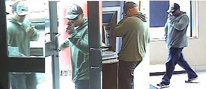 This man is suspected of stealing money from an ATM in Kelowna.