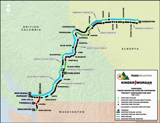 The proposed 'twinning' of the Trans Mountain pipeline.