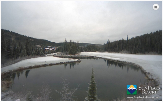 Snow is gracing even the lower elevations at Sun Peaks.