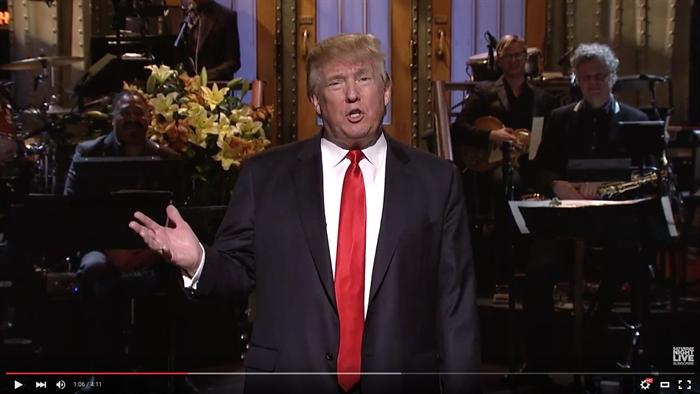"Donald Trump hosted ""Saturday Night Live,"" Saturday, Nov. 7, 2015, in ..."