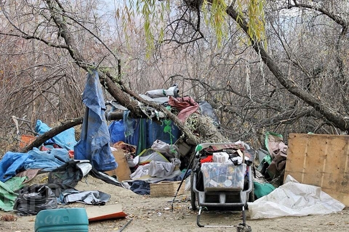 This homeless camp adjacent to Pioneer Park was disassembled by Bylaw officers and contractors on Nov. 10, 2015