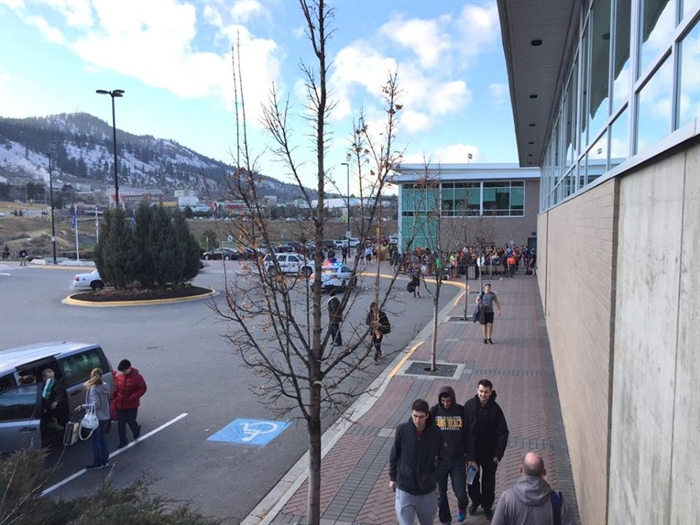 The Tournament Capital Centre has been evacuated this afternoon because of a bomb threat.
