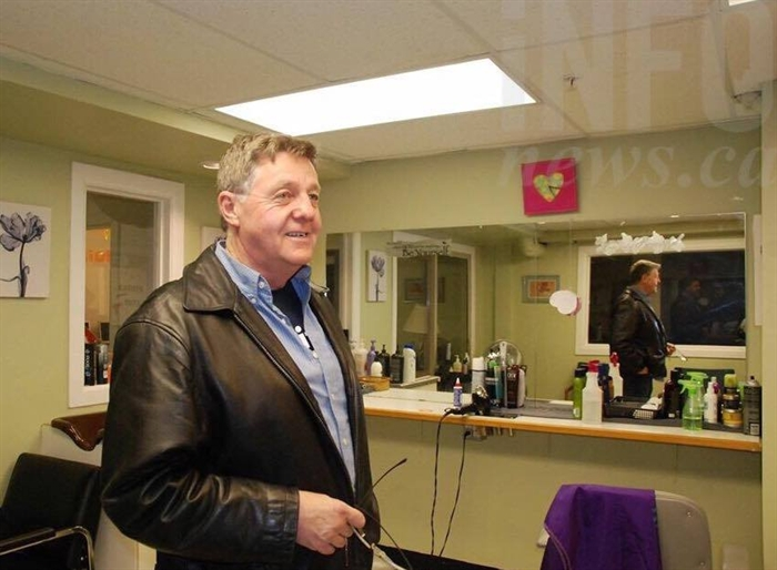 Executive director Stan Dueck in New Life's hair salon.