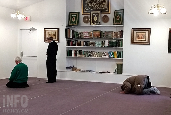 The main prayer room at the Kelowna Islamic Centre.