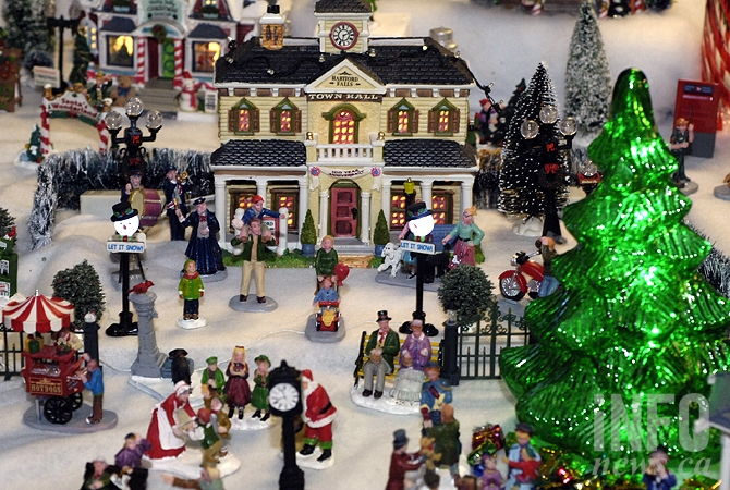 kelowna resident kathy bernards miniature christmas town now takes up an entire room in her basement - Miniature Christmas Village