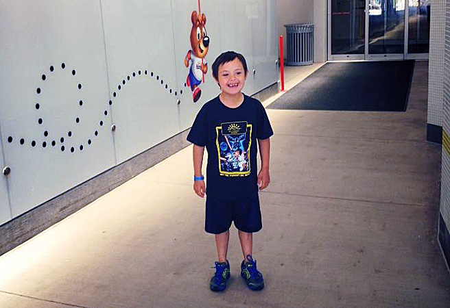 Eight-year-old West Kelowna resident Jonah Pevach has been released from Vancouver Children's Hospital after being run over across his chest June 22.