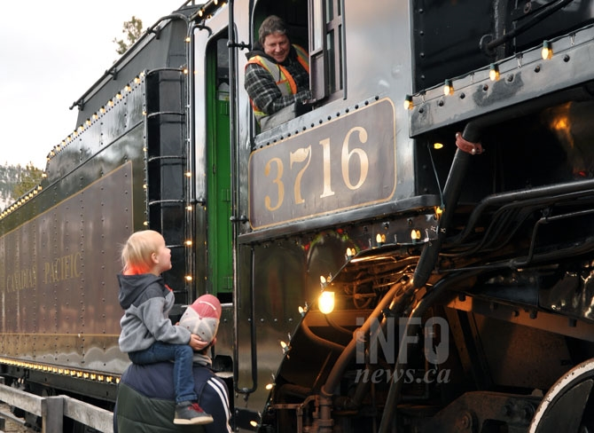The steam train seemed to be a bigger hit with young families and seniors.