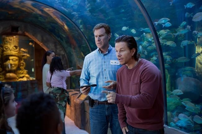 This photo provided by Paramount Pictures shows Mark Wahlberg, right, as Dusty Mayron and Will Ferrell as Brad Whitaker, in the film,