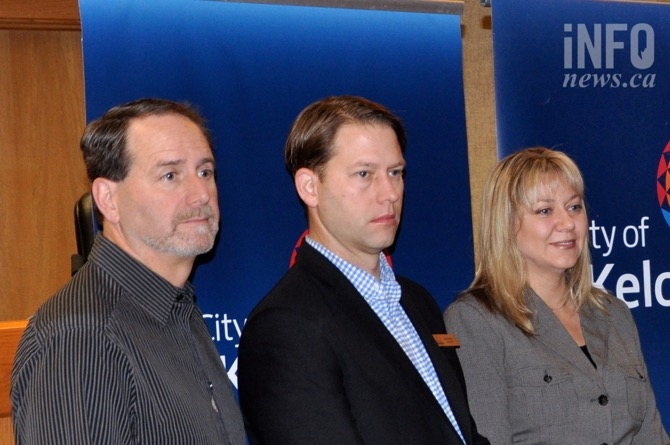Coun. Luke Stack (from left) Coun. Tracy Gray and Coun. Brad Sieben.