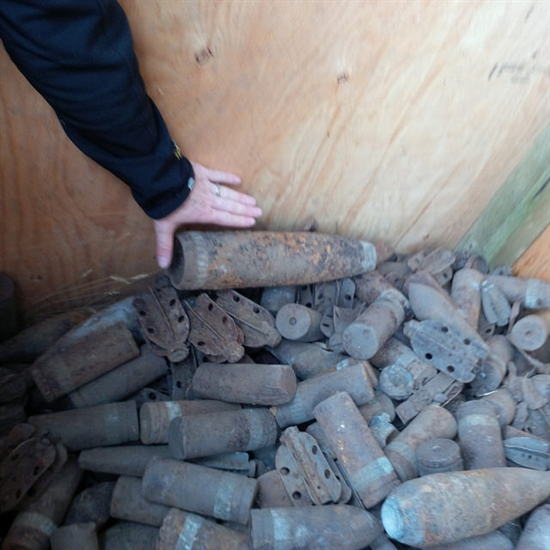 Unexploded ordnance removed from Okanagan Indian Band lands in 2014.