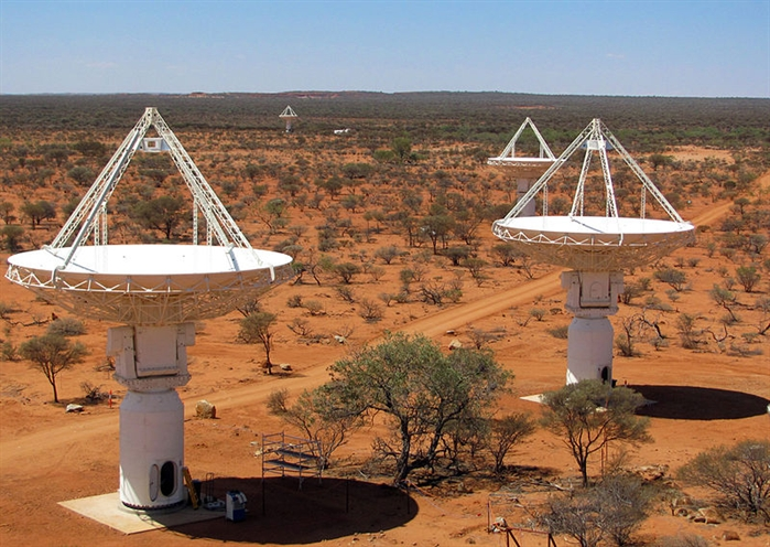 ASKAP antennas at the Murchison Radio-astronomy Observatory in Western Australia, 2010.