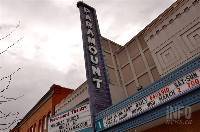The Paramount Theatre sign in Kelowna is not heritage protected.