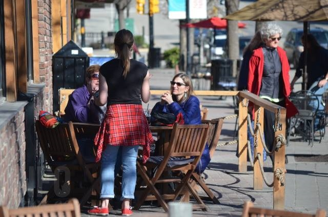 Temperatures in the high-teens and 20s this week have been ideal for lunches on Vernon patios.