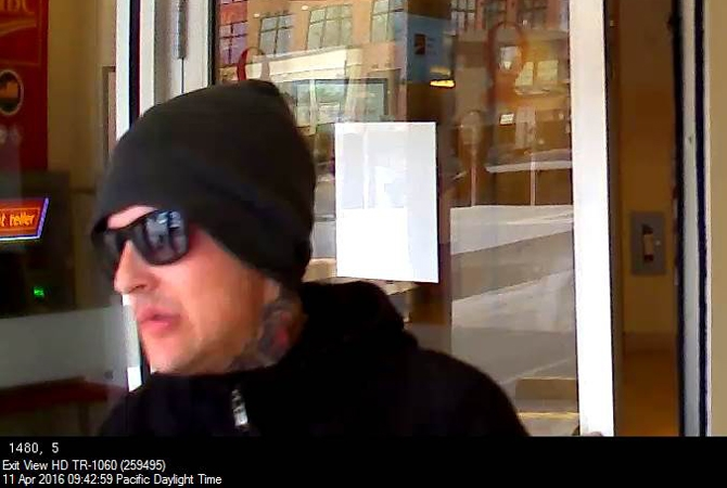Police are looking for this bank robbery suspect.