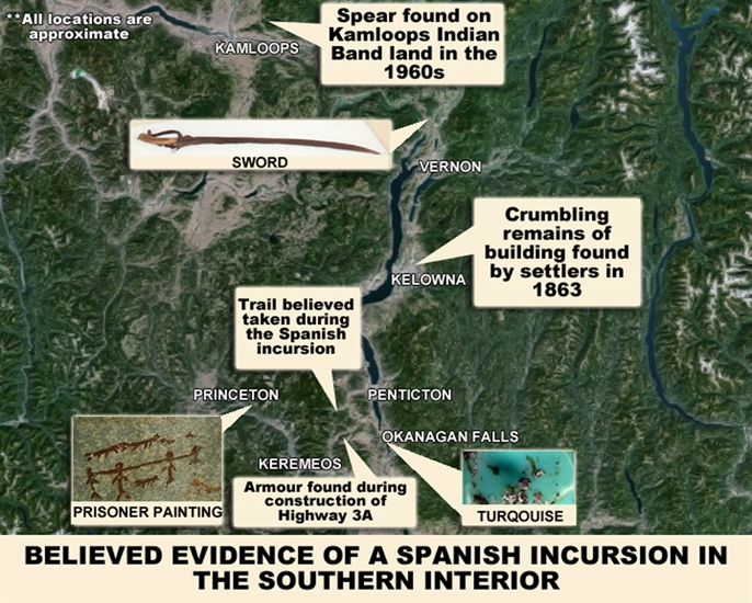 Artifacts and stories from around the region lend to beliefs Spanish Conquistadors could have travelled through the B.C. Interior.