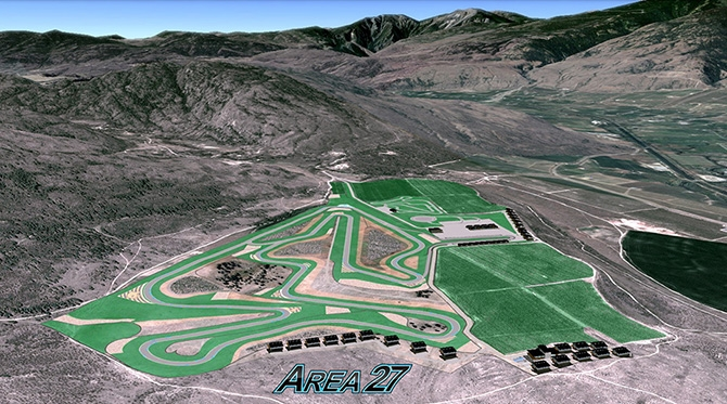 Area 27's track layout is pictured in this contributed photo.