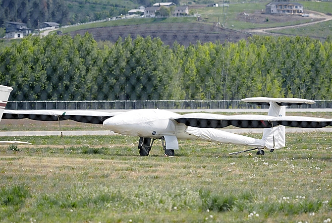 The Stemme powerglider looks as unique as it flies.