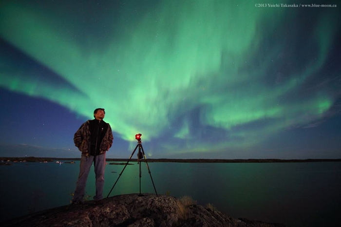 Photographer Yuichi Takasaka, from Lumby, travels around the world in pursuit of his next shot of the northern lights.