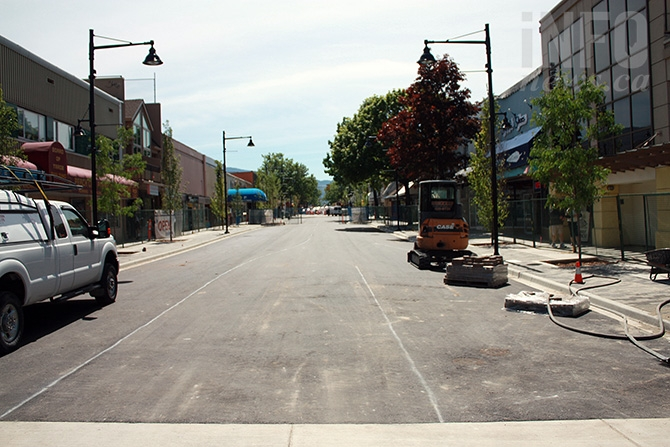 By May 31, the street is paved, with only some above ground improvements left to be done.